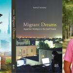 Arabic and English book covers of Migrant Dream and Samuli Schielke headshot