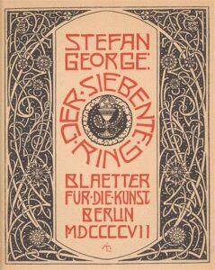 Stefan George book cover